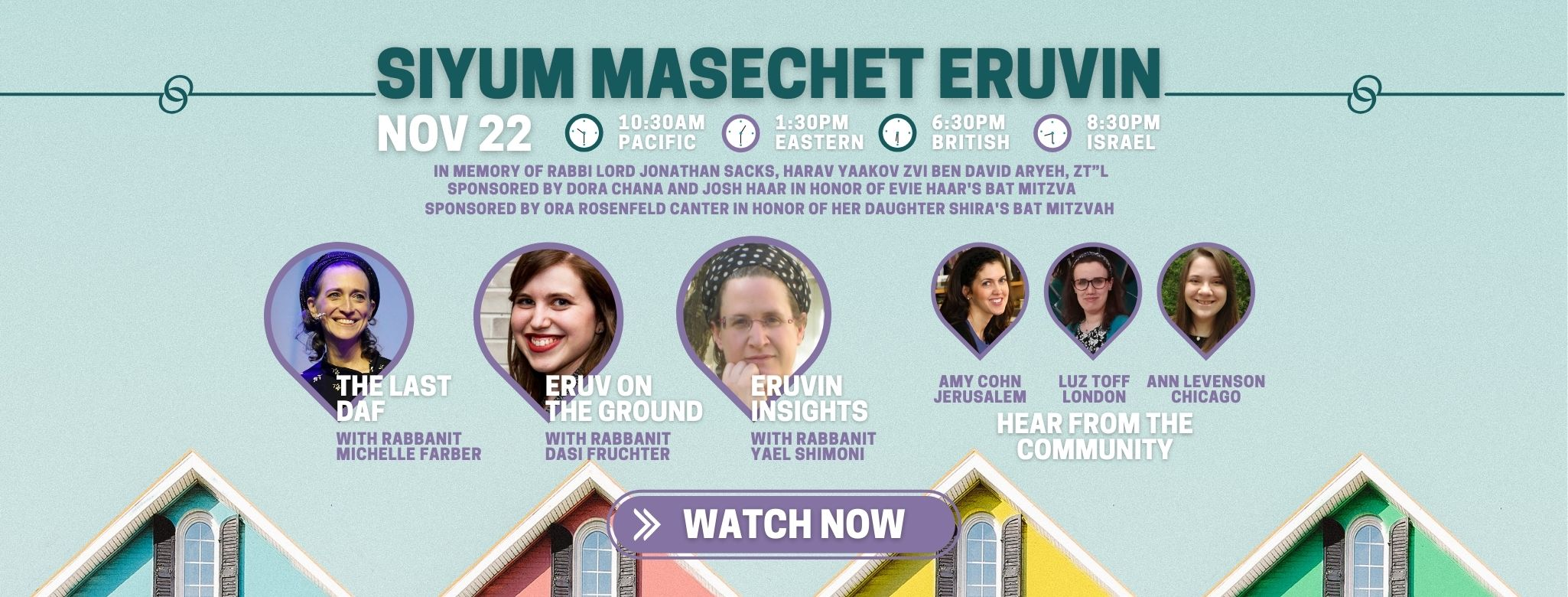 web watch Event cover siyum Eruvin