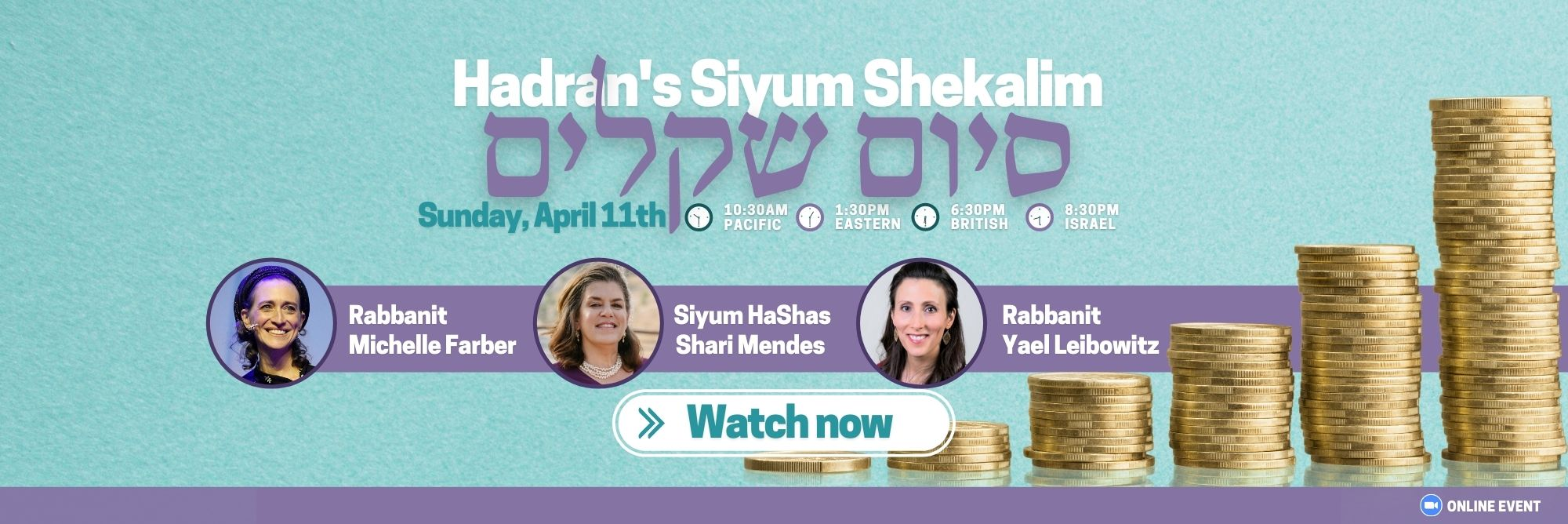 watch siyum shekalim