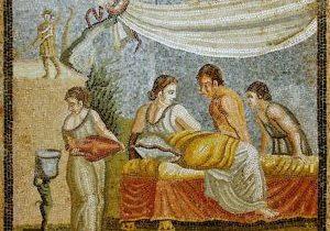 matron 1st century Roman mosaic